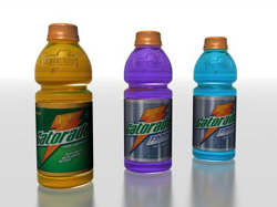 Different flavors of sports drinks