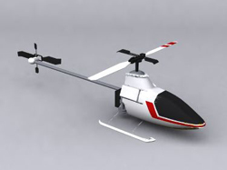 White small helicopter