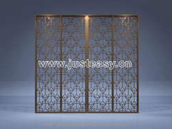 Features wooden partition wall