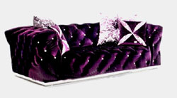 More than neo-classical soft purple sofa