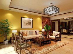 Contemporary and contracted type sunshine sitting room