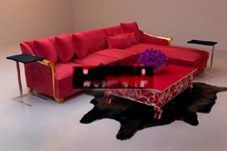 Big red sofa L-Po Yang