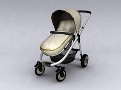 Shade baby four-wheel push cart