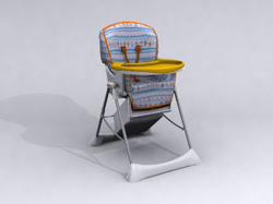 Hand colored baby walker