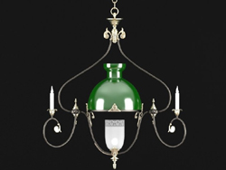 European retro elegant crystal chandelier