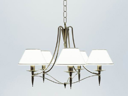 European white elegant chandelier