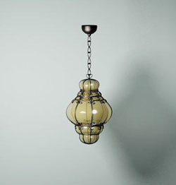 European glass ceiling lamp