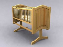 Chinese wood crib