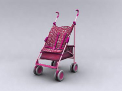 Pink Hand-wheel baby carriages