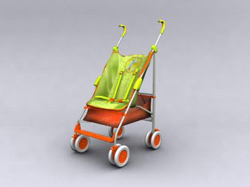 Green Hand-wheel baby carriages