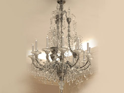 European white crystal glass chandelier