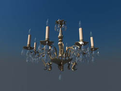 Crystal candle glass chandeliers European nobility