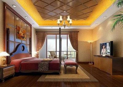Warm Chinese style bedroom