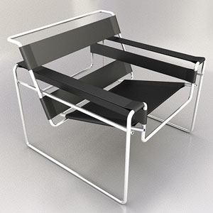 The simple modern chair model