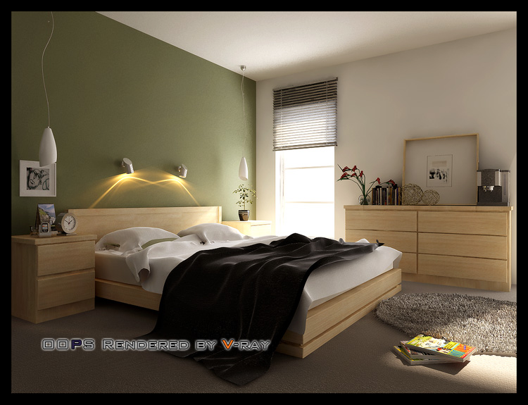 Simple Bedroom Model 3D Model Download Free 3D Models Download