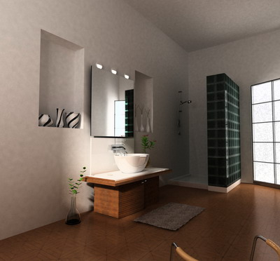 Simple Style Bathroom 3d Model 3d Model Download Free 3d Models Download