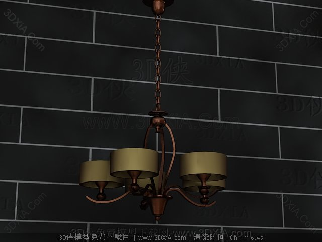 Retro metal chains chandelier