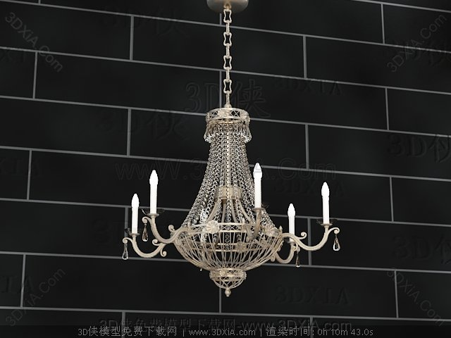 European-style metal chains chandelier
