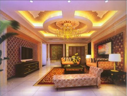 Luxury living room decoration