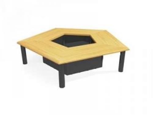Regular Pentagon Conference Table 3D Model DownloadFree