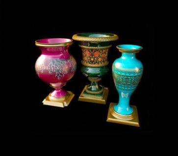 Three beautiful vases