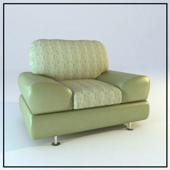 single bright green sofa 3d model download free 3d models