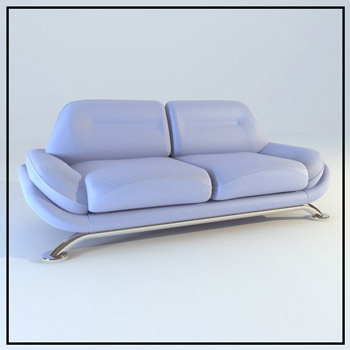 Light purple leather double sofa