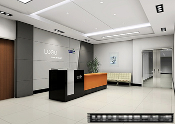 Office reception space model 3d model download free 3d for Office design 3d mac