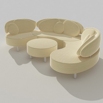 Light corner sofa