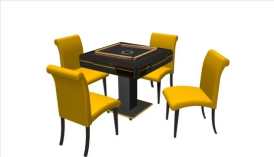Mahjong Table 3d model-1