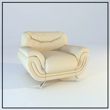 Leather single sofa model