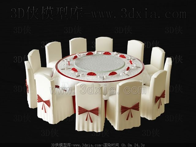 Wedding used round table and chairs