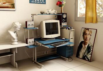 Çalışma bir köşesi - Bilgisayar Masası