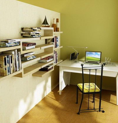 Modern and simple study room