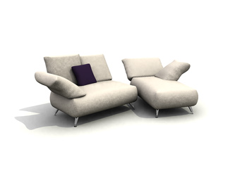 Sitting or lying sofa combination