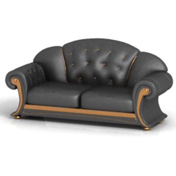 More than old-fashioned leather sofa 3D model
