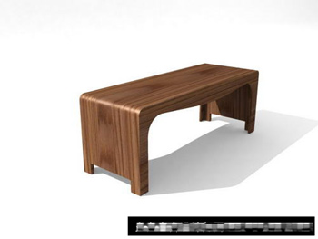 3D models of small craft wood bench