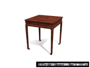 3D Model of Chinese wooden square table