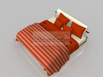 Simple 3D model of household fabric bed