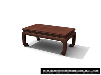 3D Model of Chinese wooden tea table