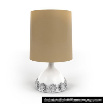 Exquisite carved lamp simple 3D model
