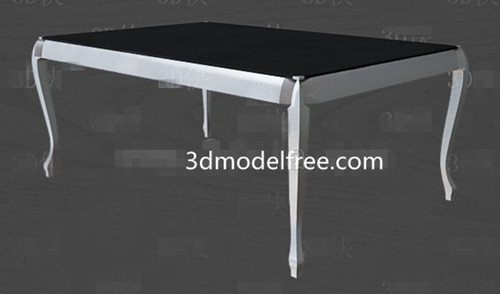 Black and white simple style tea table