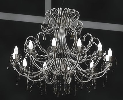 Gorgeous crystal pendant lamp