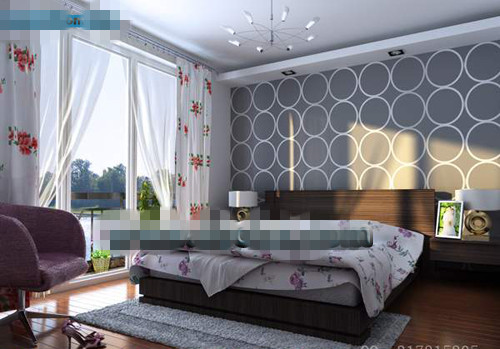 Simple ceiling windows bedroom