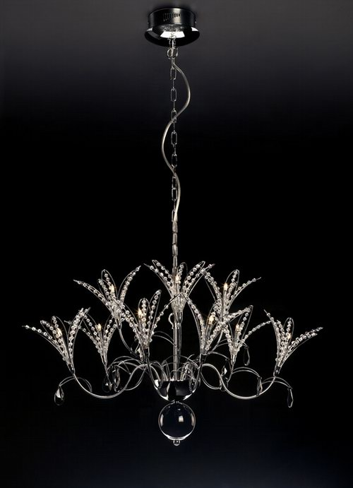 Orchid-like crystal glass chandelier