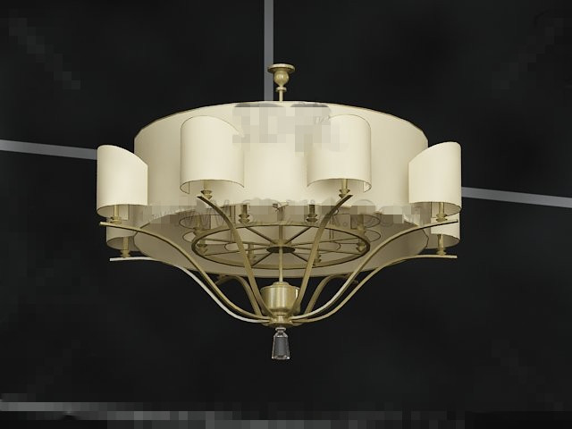 Brown lampshade-style pendant
