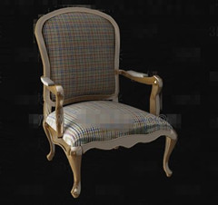 Lattice fabric wooden chair
