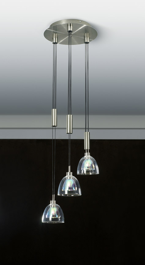 Combination of simple clear crystal chandelier