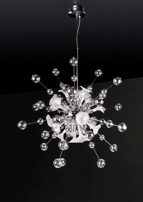 3D model of radial crystal chandelier