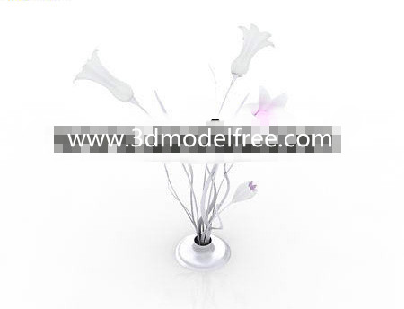 Opening flowers shaped lamp